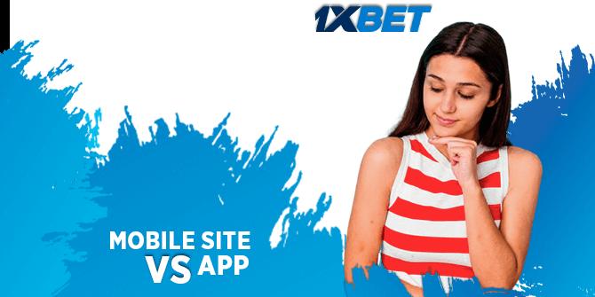 Mobile app vs Site