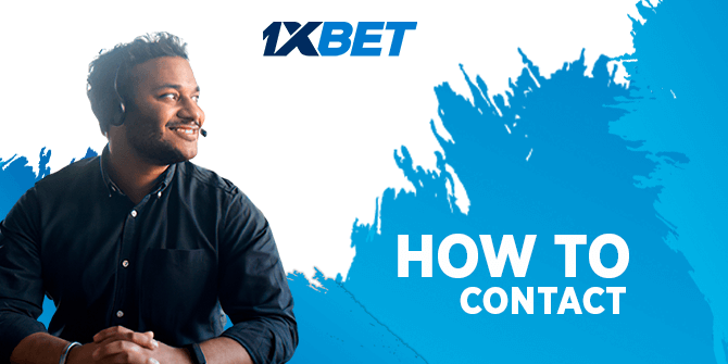 How to contact with 1xbet support