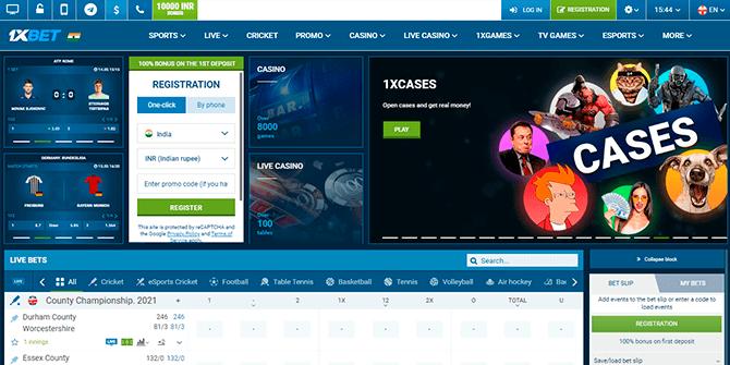 1xbet official website design